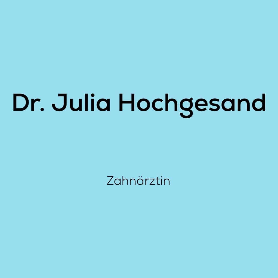 Wir, das Team von dent + face freuen uns sehr mit Dr. Julia Hochgesand als Zahnärztin zusammenarbeiten zu dürfen.
